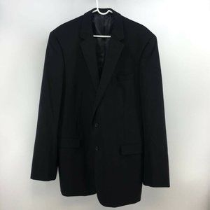 Kenneth Cole Mens Two Button Suit Coat Black